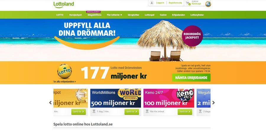 3810f194fd4 Lottoland ger dig rabatt på alla stora lottospel. Spela 2 rader till priset  av 1